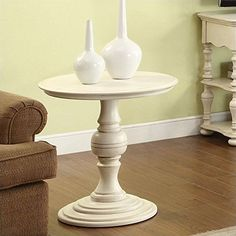 Traditional End Table with Round Top ** See this great product.Note:It is affiliate link to Amazon.