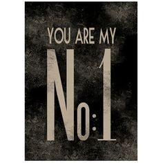 Poster You Are My No.1