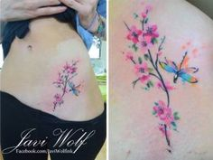 Flores de Cerezo estilo Acuarelas by Javi Wolf