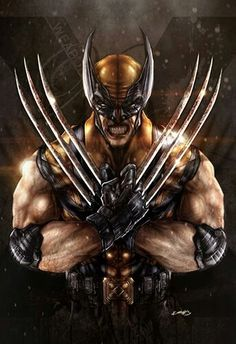 """Wolverine ❁❁❁Thanks, Pinterest Pinners, for stopping by, viewing, pinning, & following my boards.  Have a beautiful day! ❁❁❁ **<>**✮✮""""Feel free to share on Pinterest""""✮✮"""" #fashion  #gifts www.unocollectibles.com"""