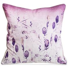 Graham & Brown Ombre Seeds Pillow ($58) ❤ liked on Polyvore featuring home, home decor, throw pillows, ombre seeds, whimsical home decor, plum throw pillows, floral home decor and floral throw pillows