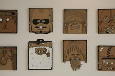 100 Cardboard Characters: A Project By Berni Valenta | Design Shifts