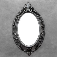 Black Ornate Mirror - Oval Mirror - Vintage Syroco by TheCherryAttic on Etsy