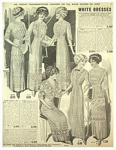 Vintage Ladies ~ White Dresses vintage-images-people vintage-images-people