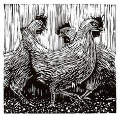 woodcut chicken - Google Search