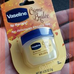 Just snapped up this @Vaseline Creme Brulee Lip Therapy! So excited! @nouveaucheap is this new? #atbshare #bblogger #beautyblogger #instabeauty #holiday #fall #fall2014 #pretty #new #vanilla #lips #lipbalm #love #mini #target #drugstore #drugstorebeauty