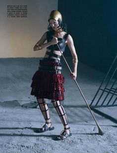 """Like a Warrior"" Mariacarla Boscono by Tim Walker for Vogue Italia March 2014"