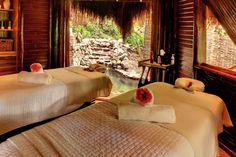 A treatment room at Rainforest Spa | Paradise Found: Sugar Beach, St. Lucia | FATHOM Travel Blog and Travel Guides