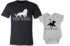Set of 2 King Shirts, Dad and Son shirts, daddy shirt and baby onesies Shirts, lion king shirts, funny tshirts, family shirts, baby onesies by MOTIFIT on Etsy