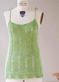 5 Free patterns Knit Tank Top Pattern #5: Lace Nightie