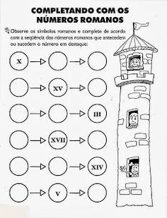 Puzzle de numeros romanos  ACTIVIDADES y FICHAS PARA MATEMTICAS