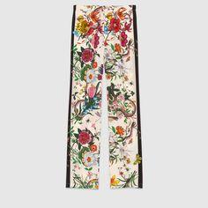 Gucci - Flora snake silk pajama pant