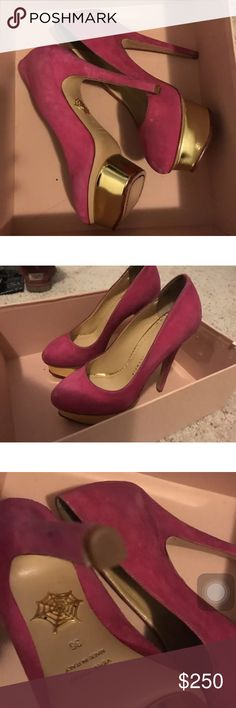 Charlotte Olympia New prink pumps New with defect. Size 36. Authentic Charlotte Olympia Shoes Heels