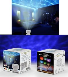 Ocean Wave Night Light Projector and Music Player, Feel the effect of being near the seaside at any time http://bestaerialdrone.com/OceanWave