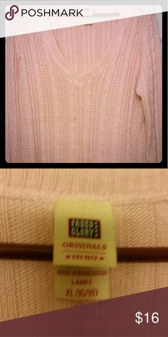 Baby pink sweater Stretchy baby pink sweater.  I consider all offers just don't low ball me!   *Comes from a pet friendly, non-smoking home  *I am 5'10, roughly 210-220, Size 12/14 top, size 14 bottoms, with a 40-42 F cup bra.   I will do my best to indicate if an item runs small or large, but this is based on MY measurements not yours. I am NOT responsible for the fit of this item, all sizes are clearly labeled and marked, I have done my best to describe the item and you may freely ask…