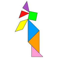 Tangram Indian - Tangram solution #134 - Providing teachers and pupils with tangram puzzle activities