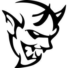 Dodge Challenger Demon Logo Vinyl Decal Sticker Concept