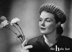 The Halo Hat -  c. 1940 Vintage Knitting / Crochet Hat Pattern