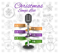 Christmas hand drawn infographics with microphone, 75204, Backgrounds, Textures, Abstract,  Download, Royalty free, Vector, eps, clipart, jpg, images, clip art, graphics