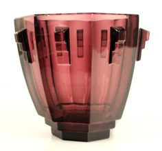 Art Deco Bohemia Crystal Vase in the Manner of Hoffmann | From a unique collection of antique and modern vases at http://www.1stdibs.com/furniture/more-furniture-collectibles/vases/