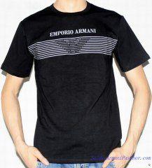 d01fd1cc66f T-shirt à Manches Courtes Emporio Armani Homme Coton Imprimé Noir