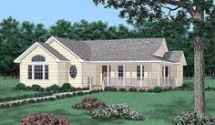 Elevation of Ranch   House Plan 45404