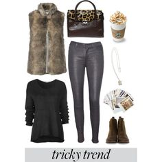 """""""Faux Vest Street Style"""" by youaresofashion on Polyvore"""