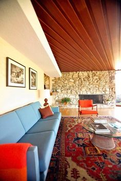 mid century interior, timber ceiling.  Secret Design Studio knows mid-century modern architecture. www.secretdesignstudio.com