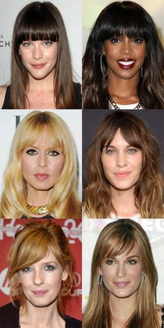 The Best (and Worst) Bangs for Long Face Shapes - The Skincare Edit which hairstyles suit long faces - HairStyles Oblong Face Hairstyles, Side Bangs Hairstyles, My Hairstyle, Straight Hairstyles, Cool Hairstyles, Hairstyles For Long Faces, Rectangular Face Hairstyles, Wedding Hairstyles, Fringe Hairstyles