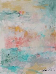 "Saatchi Art Artist Kerri Blackman; Painting, ""Peach Daiquiri"" #art"