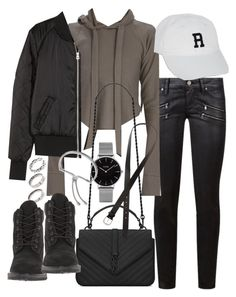 """Untitled #20266"" by florencia95 ❤ liked on Polyvore featuring Paige Denim, H&M, Yves Saint Laurent, Topshop, ASOS, Timberland and Monica Vinader"