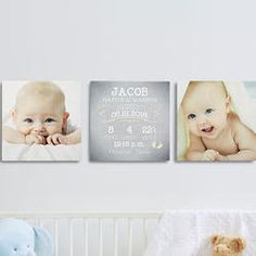 Personalized Baby Canvas Wall Art Print