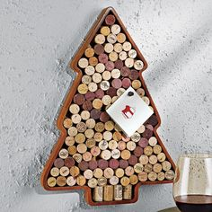 Mahogany wood cork board frame with a tree silhouette. Includes space for seventy-five corks.   Product: Cork frameC...