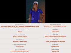 #TeamHeadTrainer Athlete Caroline Wozniacki Fun Facts
