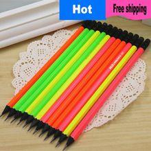 Nueva negro de madera de alta calidad de papelería lápiz HB hexagonal lápiz para…