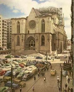 Catedral da Sé início da década de 50 foto enviada pelo Paulo Fernandes #saopaulocity #catedraldase