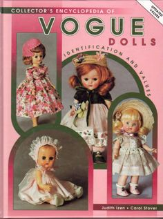 This is a hardback edition of the Encyclopedia of Vogue Dolls and it's not just about Ginny although she takes centre stage. It features lots of other dolls and toys made by Vogue throughout the years - Ginnette, Jimmy, Wee Imp, etc. Hundreds of photos, colour and black and white. Very good condition.