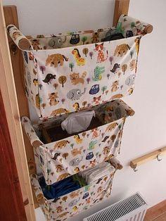 FREE SHIPPING / Wall organizer - with 3 pockets - Small, cute animals. $94.00, via Etsy.
