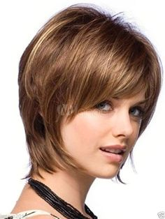 Fashion wig New sexy Women s short Brown Blonde Mix Natural Hair wigs + hairnet