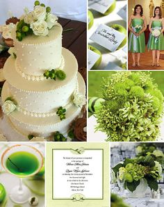 Green and White Weddings with Apples...& a green martini! I think yes!