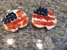 4th of July Breakfast Bagel