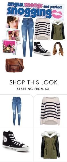 """""""Untitled #744"""" by phoebe-pilgrim ❤ liked on Polyvore featuring Lipsy, Velvet by Graham & Spencer and Converse"""