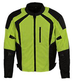 """Milwaukee Leather""1793 Green Men's Motorcycle Reflective Armored Textile Jacket #MilwaukeeLeather #Motorcycle"