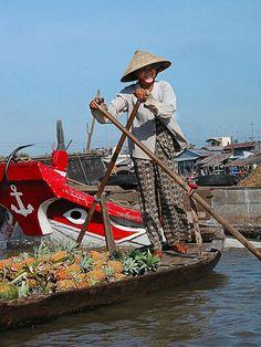Pineapple Lady. Vietnam