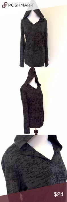 """Next Level Black Gray Pullover L Next Level Black Gray Burnout Tunic Hoodie Tie Dye Pullover Workout Yoga Large  Light weight black & gray subtle tie-dye tunic hoodie. The perfect hoodie to throw on for those chilly nights or after a workout. You can layer it over tank tops or shirts.  Size: Large  Bust (flat) 20"""" - stretches to 23"""" Length (from shoulder): 27"""" Sleeve (from armpit): 21""""  Please check out my Trixy Xchange store for more sweaters and hoodies! :) Next Level Apparel Tops…"""