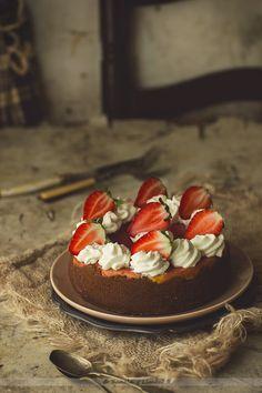 Kanela y Limón: Tarta de queso y fresas