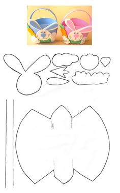 Easter Art, Easter Crafts For Kids, Easter Bunny, Diy And Crafts, Arts And Crafts, Paper Crafts, Felt Crafts Patterns, Christian Crafts, Butterfly Template