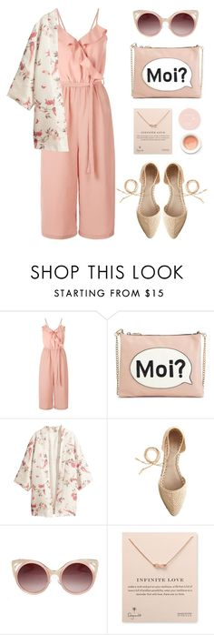 """""""Summer Essential"""" by stavrolga ❤ liked on Polyvore featuring New Look, M&S, J.Crew, WithChic, Dogeared, Korres, kimono, polyvoreeditorial, polyvorecontest and sleevelessjumpsuits"""