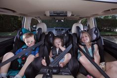 Seven tips to help you fit three child restraints across the back seat! Read about 3 across, car safety, education, tips and more 3 Across: The Magic Number on the InfaSe Booster Car Seat, Magic Number, Four Year Old, Third Baby, Big Challenge, Back Seat, 4 Year Olds, Car Manufacturers