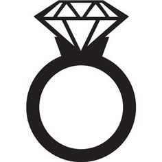 Engagement Ring Outline Clip Art 2 Pinteres